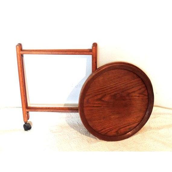 Vintage Tray Top Folding Teak Tea Cart - Image 5 of 5