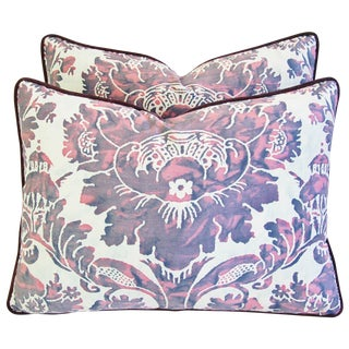 Designer Italian Fortuny Vivaldi Pillows - A Pair