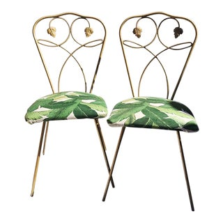 Banana Leaf Outdoor Chairs - A Pair