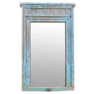 Antique Turquoise Haveli Floor Mirror