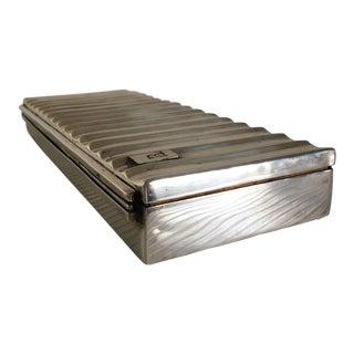 Ralph Lauren Silver Ridged Humidor Box
