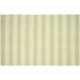 "Striped Egyptian Kilim Rug, 3'11"" x 6'"
