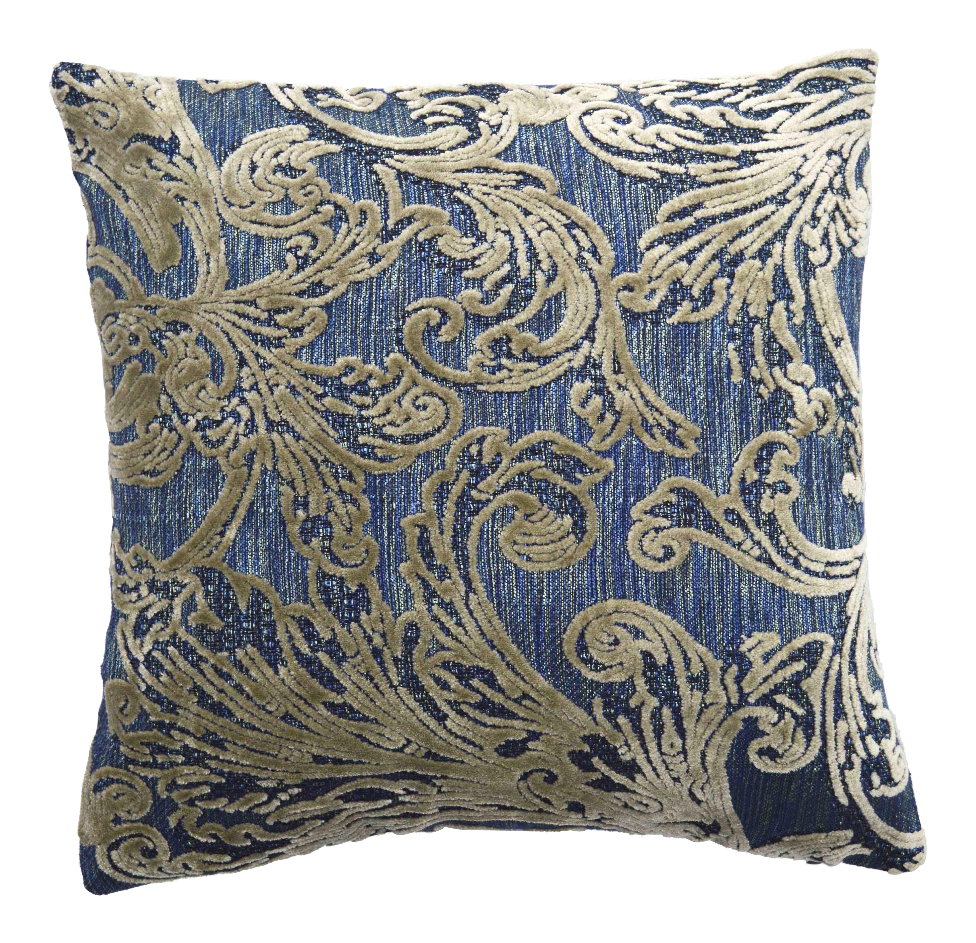italian damask velvet pillows a pair