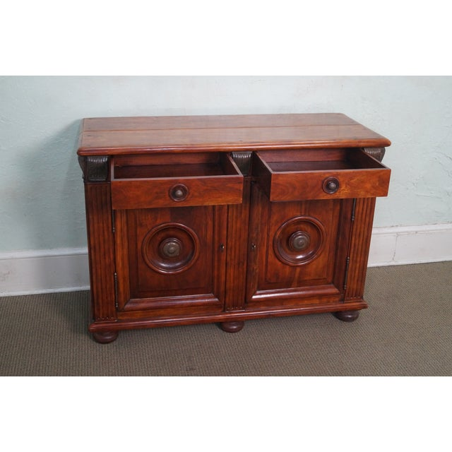 Quality Solid Mahogany Rustic Continental Server - Image 5 of 10