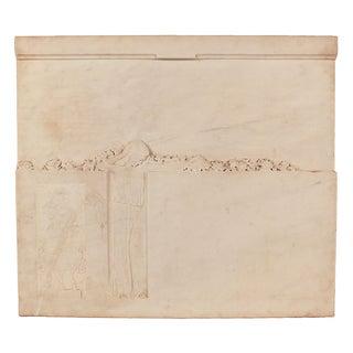 Mid-Century White Carrera Marble Plaque