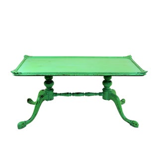 Vintage Georgian Style Green Painted Coffee Table