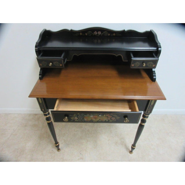 Ethan Allen Hitchcock Paint Decorated Writing Desk - Image 8 of 10