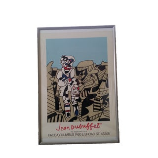 1974 Pace Gallery Dubuffet Exhibition Poster With Frame