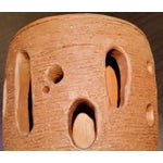 Image of Mid-Century Abstract Brutalist Art Studio Pottery Lidded Pot 1965