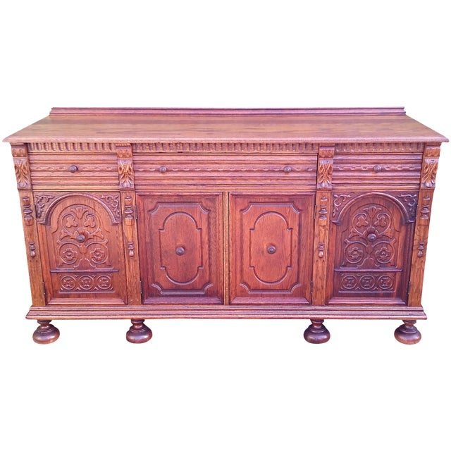 Oak Jacobean Server - Image 1 of 9
