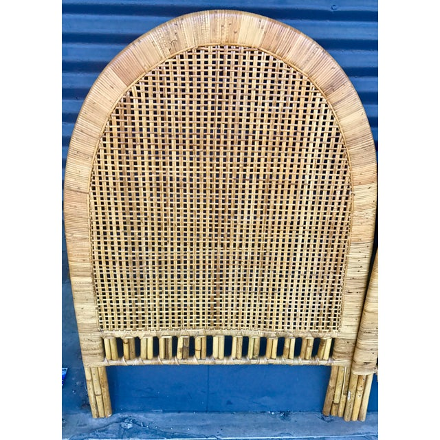 Vintage Rattan Caning Twin Headboards - A Pair - Image 6 of 10