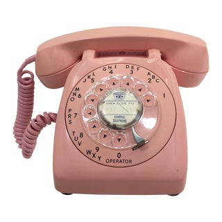 Vintage Pink Automatic Electric Rotary Dial Phone