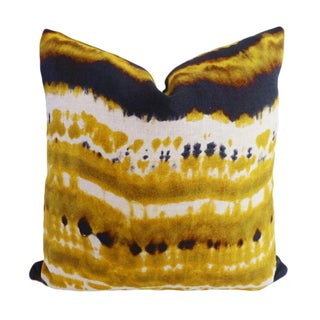 Kim Salmela Modern Yellow Gold Designer Pillow