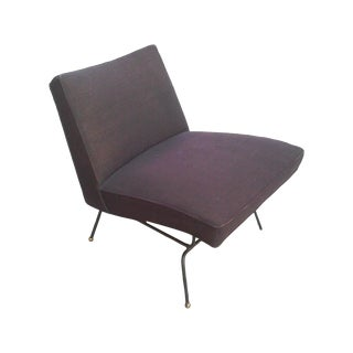 Baughman-Style Mid-Century Iron Frame Slipper Chair