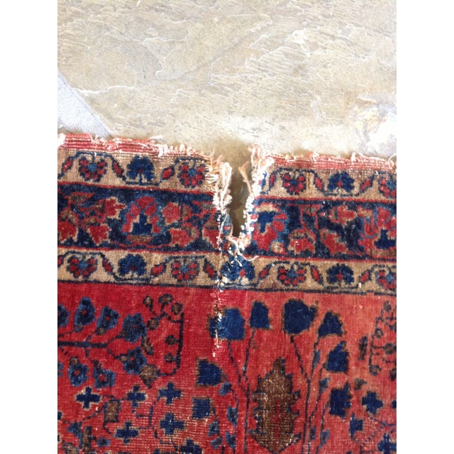 """Vintage Red Persian Rug - 2' 7"""" x 5' 10"""" - Image 3 of 5"""