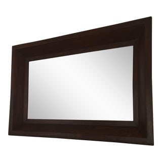 Contemporary Wood Espresso Finish Bevel Mirror
