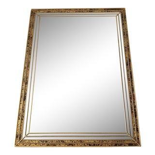 Mid-Century Faux Tortoise Gilt Mirror