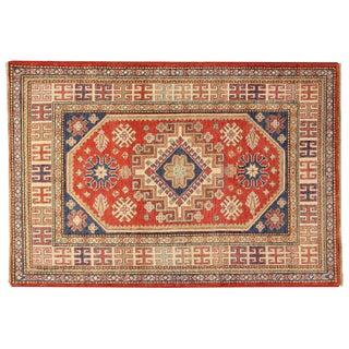 "Vintage Pak Kafkaz Wool Rug - 4' x 5'9"""