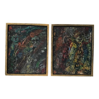 Abstract Fantasy Paintings - A Pair