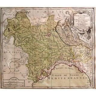 Louis Brion De La Tour Map, Italy, 1766