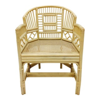 Vintage Brighton Pavilion Style Rattan Arm Chair