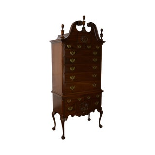 Kittinger Old Dominion Mahogany Chippendale Style Ball & Claw Foot Highboy