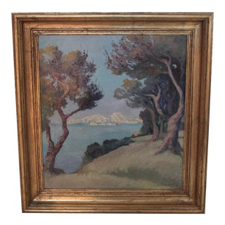 Vintage Le Chateau d'If Framed Painting