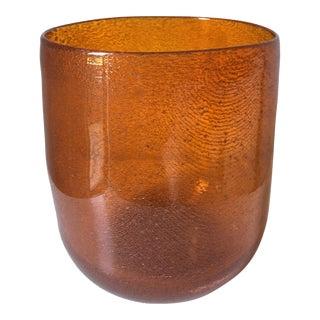 Mid Century Persimmon Art Glass Vase