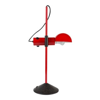 1980s Barbieri & Marianelli Red Table Lamp for Tronconi