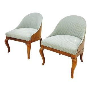 Spoon Back Slipper Chairs- A Pair