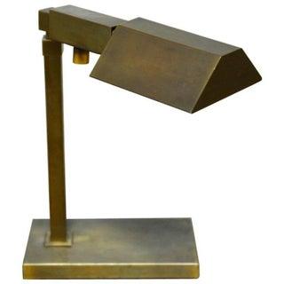 Casella Adjustable Brass Desk Lamp
