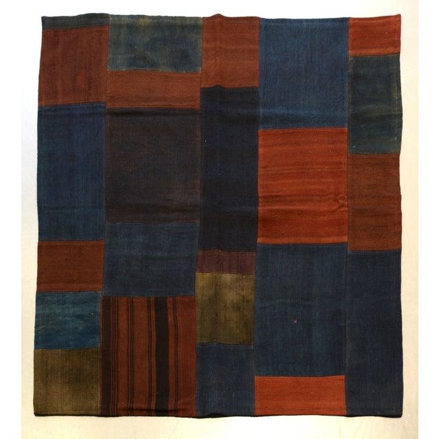 "Turkish Kourmak Rug/Textile - 4' 5"" x 4' 9"" - Image 2 of 3"