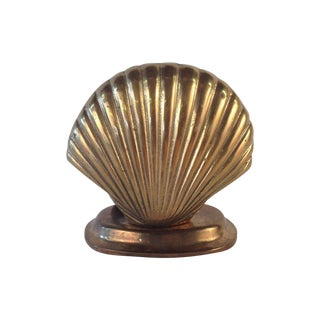 Brass Seashell Nightlight