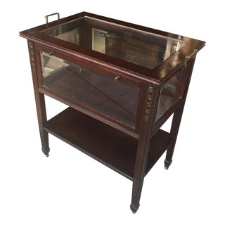 Antique Edwardian Bar Cart with Tray