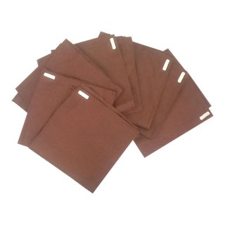 Irish Brown Linen Napkins - Set of 8
