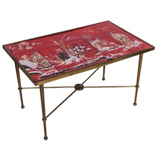 Red Tile Chinese Table