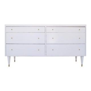 Mid-Century Modern White Dresser