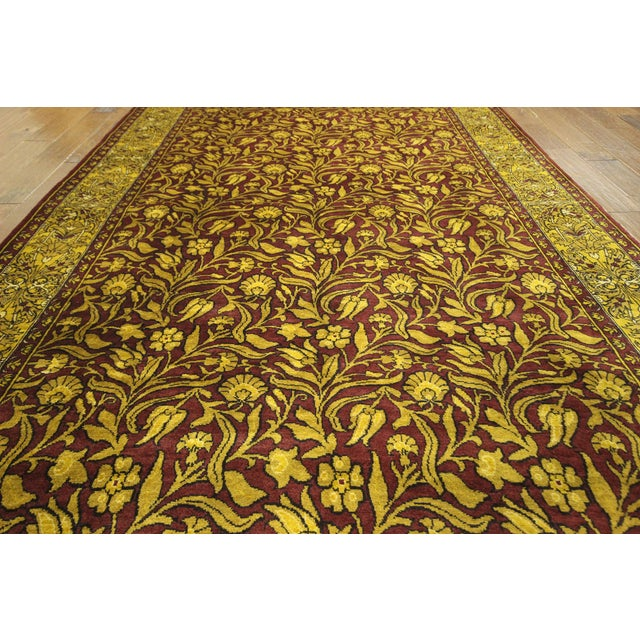 "Suzani Collection Oushak Floral Rug - 6'2"" x 8'10"" - Image 6 of 10"