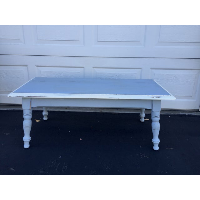 Vintage Hand Painted Coffee Table/Entryway Bench - Image 2 of 6