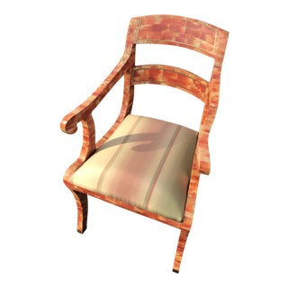 Maitland-Smith Tesselated Shell Chair With Brass Accents