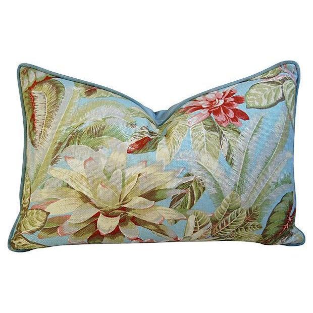 Lush Botanical Linen & Velvet Pillows - Pair - Image 4 of 7