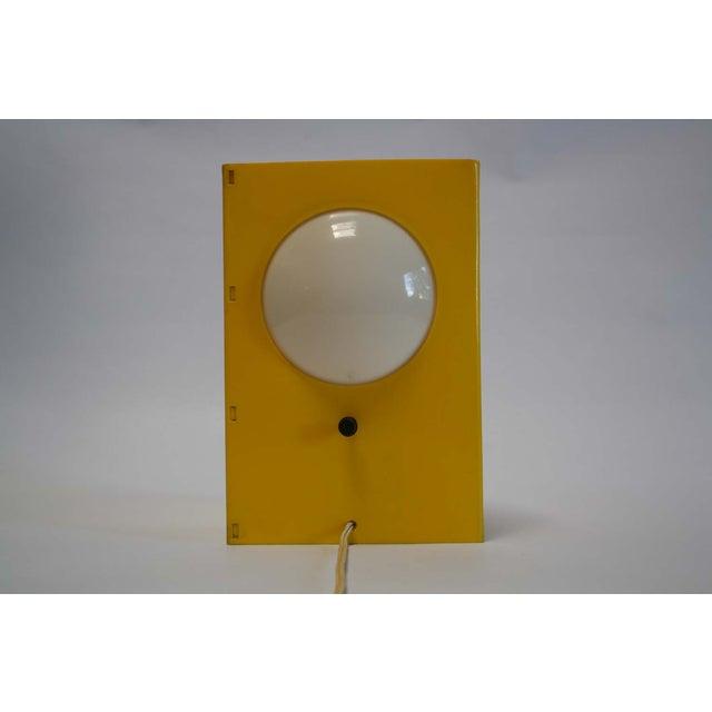 Mid-Century Mod Plastic Triangle Lamp - Image 2 of 10