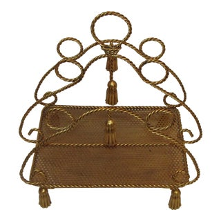 Rope & Tassel Magazine Rack