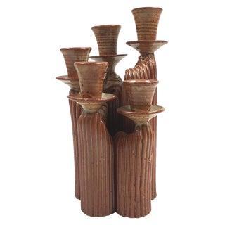 Mid-Century Danish Modern Ceramic Candelabra
