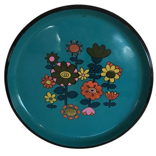 Mid-Century Bold Floral Serving Tray