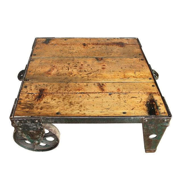 Vintage Industrial Coffee Table - Image 4 of 5