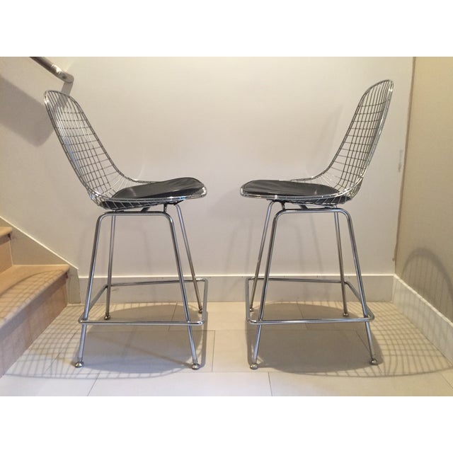 Modernica Counter Height Wire Stools - A Pair - Image 4 of 7