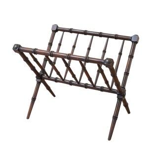 Bamboo Style Turned Wood Magazine Rack