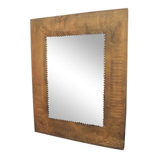 Embossed Brass Mirror
