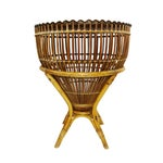 Image of Vintage Bamboo Copper Tray Table